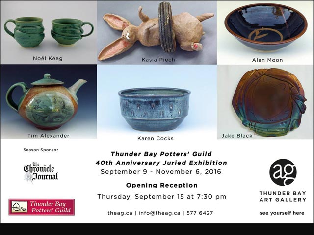 Thunder Bay Potters' Guild - 40th-Poster