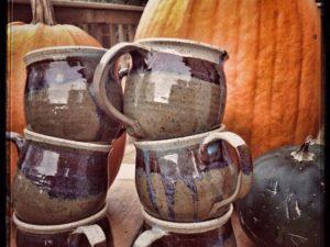 Thunder Bay Potters' Guild - Meg-Sheepway-Fall-Mugs